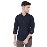 Camla Men Navy Solid Shirt