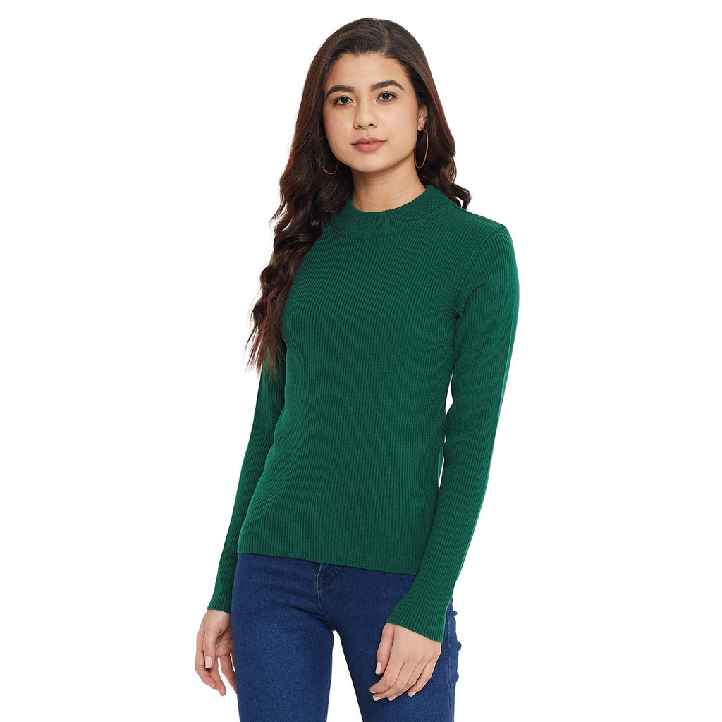 Madame Green Color Sweater For Women