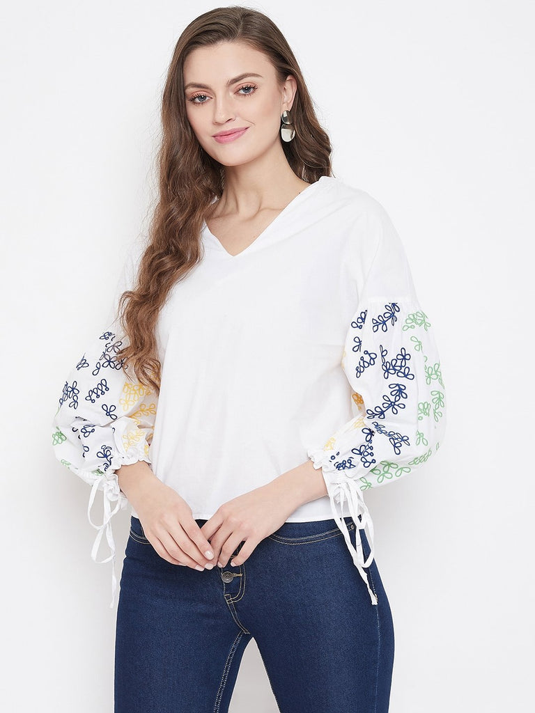 Camla White Color Top For Women