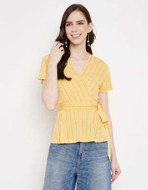 Madame Lemon Half Sleeve Top For Women