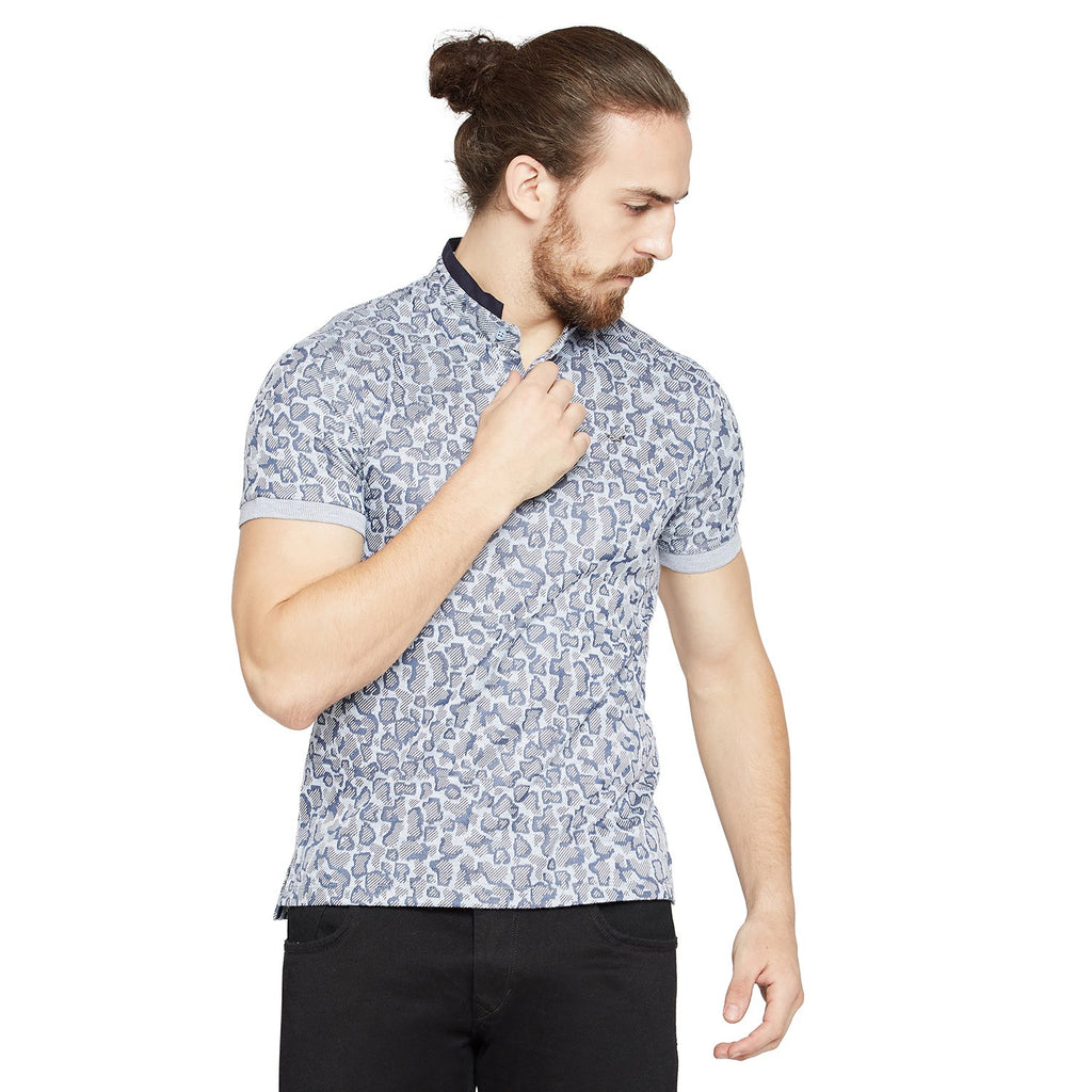 Grey Slim Fit Polo T-Shirt