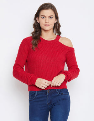 Camla Women Red Sweater