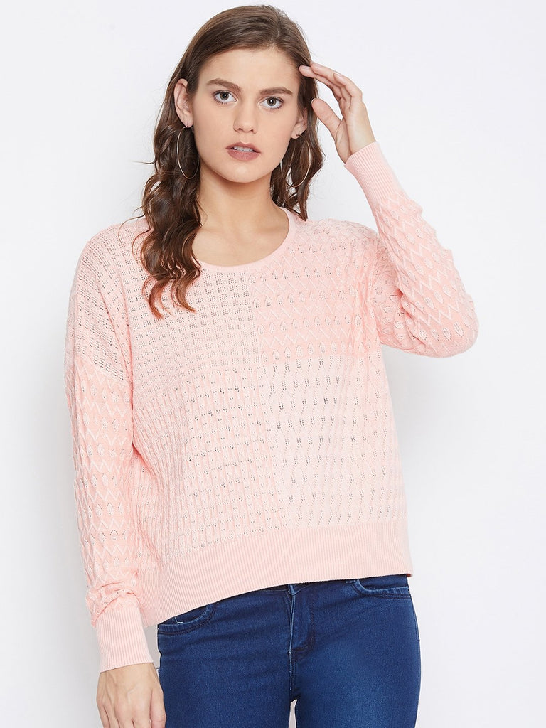 Camla Women Peach Sweater