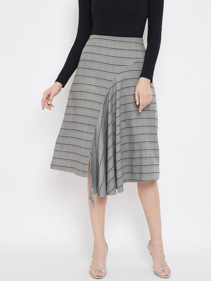 Madame Grey Color Skirt For Women