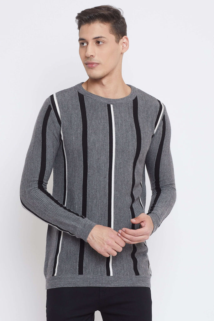 Camla Grey Color Sweater For Mens