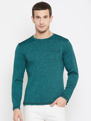 Camla Teal Color T-Shirt For Men