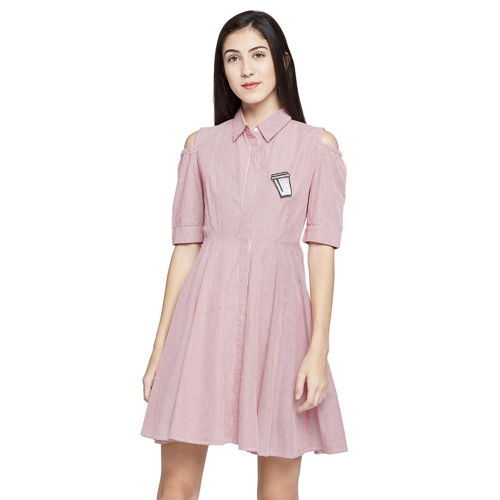 Madame Striped Casual Dress