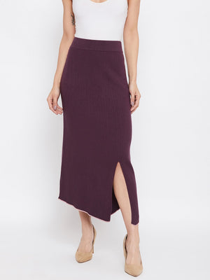 Camla Purple Color Skirt For Women