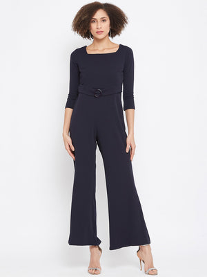 Madame Navy Color Jumpsuit For Women