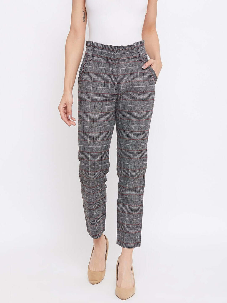 Camla Grey Color Trouser For Women