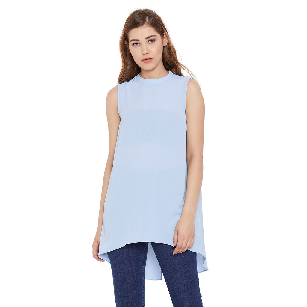 Madame Blue Color Top  For Women