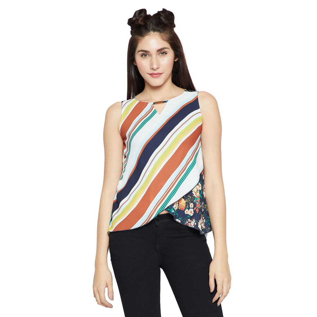 Madame Multicolored Striped Top