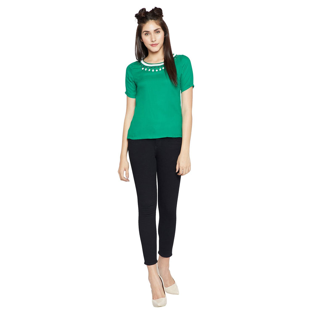 Green Casual Top
