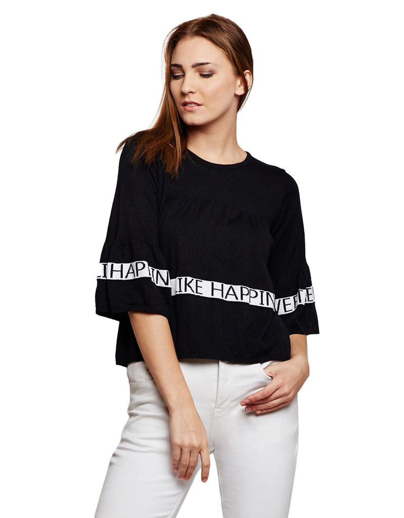 Women's Printed Knitted Top