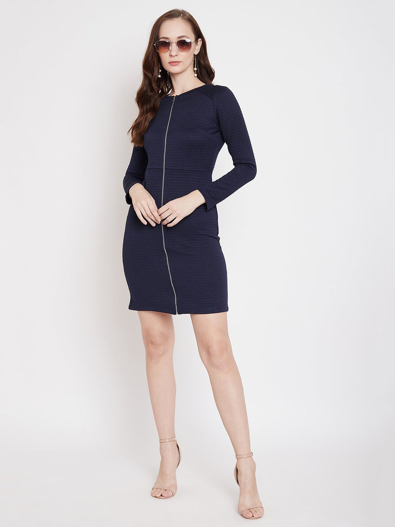 Madame Navy  Color Dress For Women
