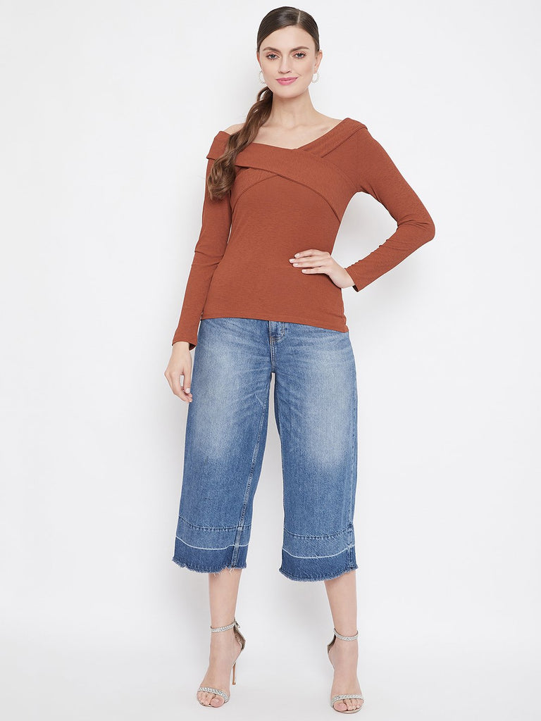 Camla Rust Color Top For Women