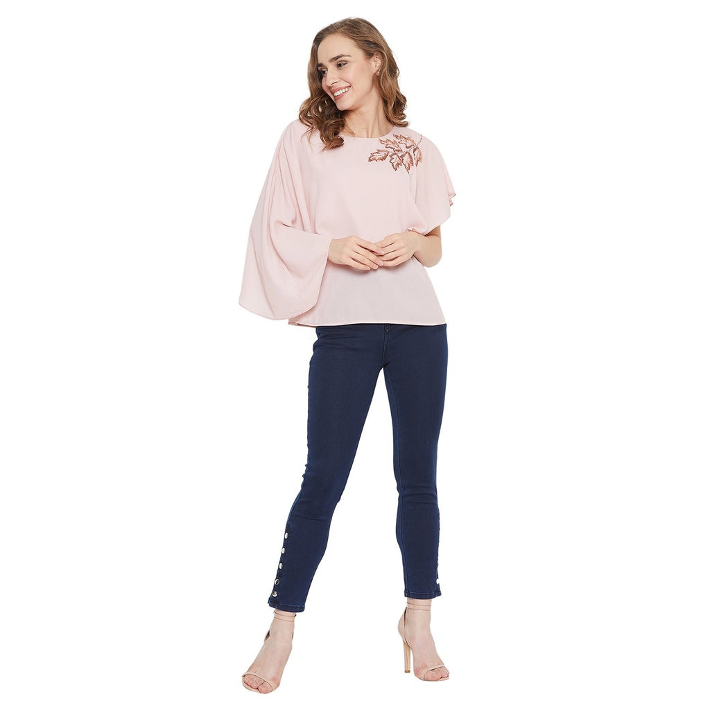 Madame Pink Color Top  For Women