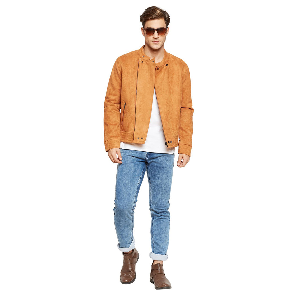Camla - Band Collar Slub Men Jacket