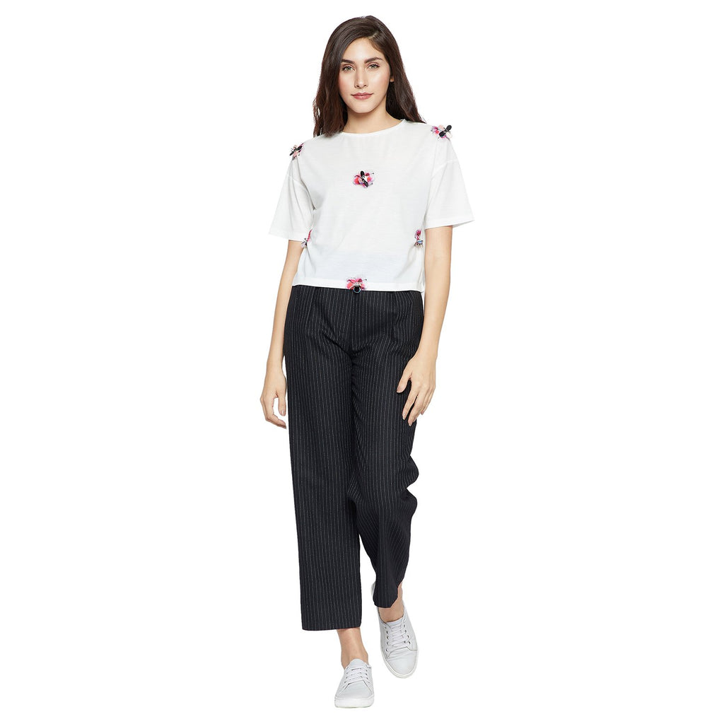Madame Off White Casual Top
