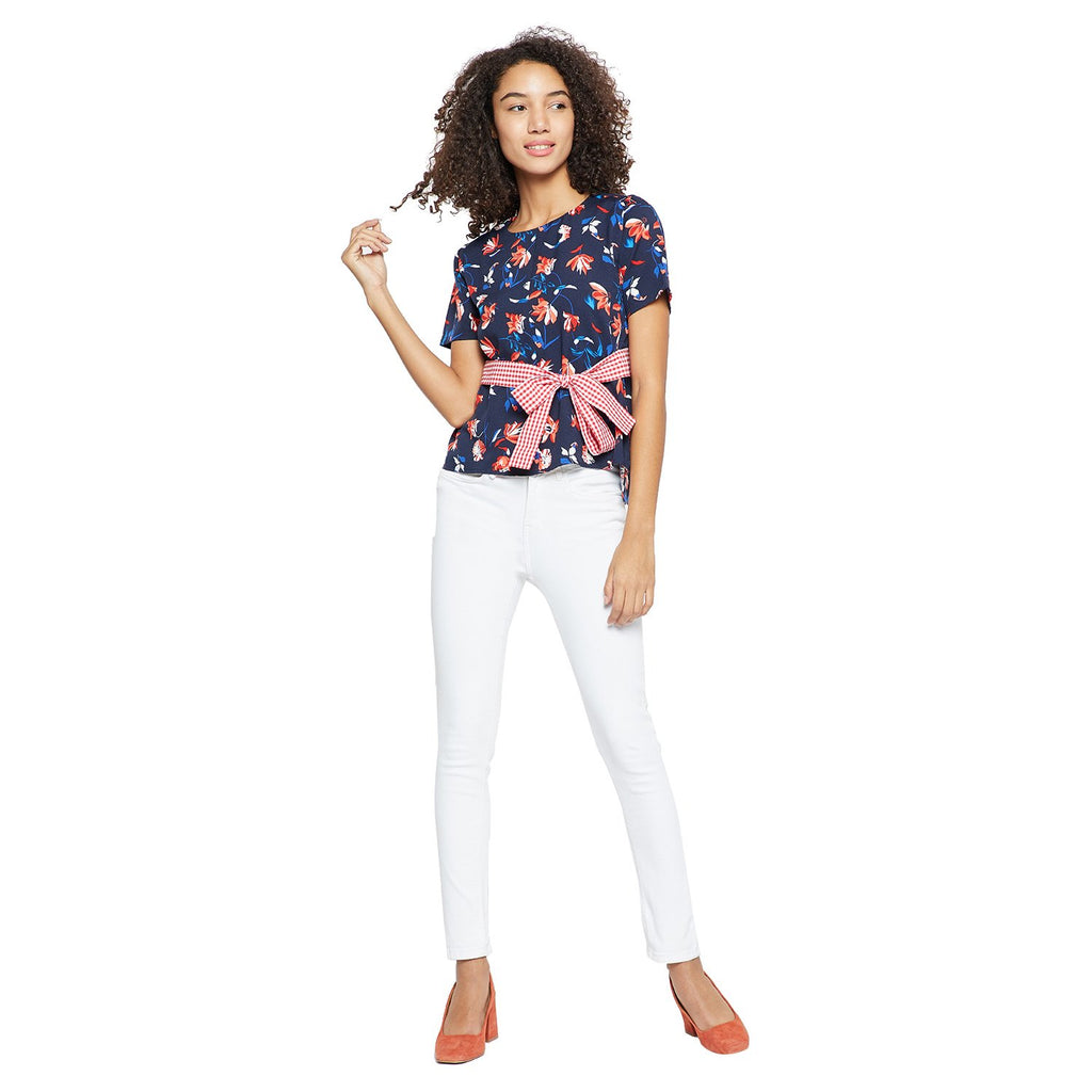 Women's Polyester Floral Top