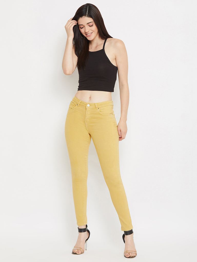 Madame Mustard Color Denim For Women