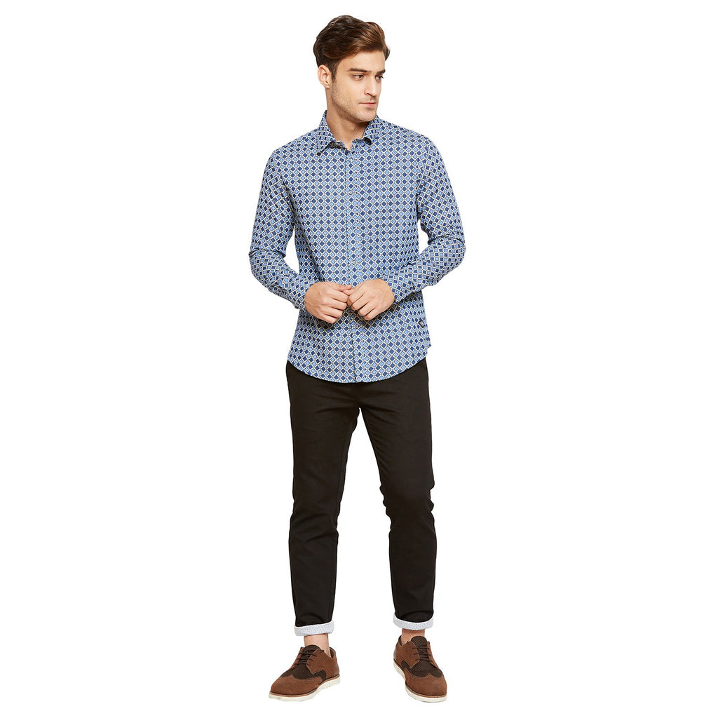 Camla Mens Navy Casual Shirt