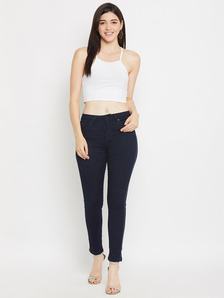 Madame Navy Color Denim For Women