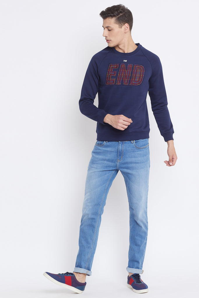 Camla Navy Color Sweat-Shirt For Mens