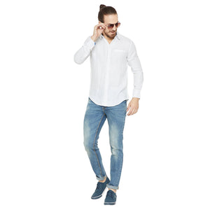 Camla Offwhite Printed Casual Shirt