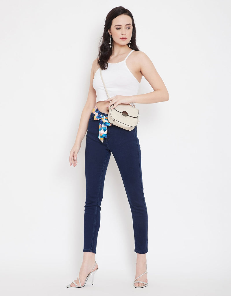 Madame Blue Denim Jeans For Women