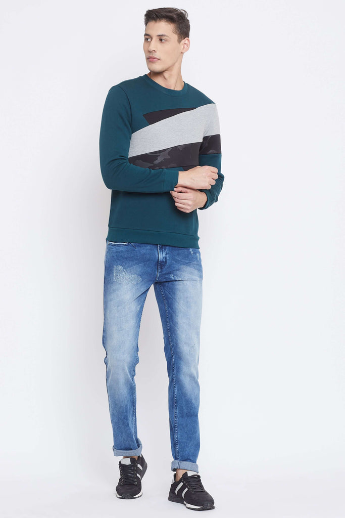Camla Bottle Green Color Sweat-Shirt For Mens