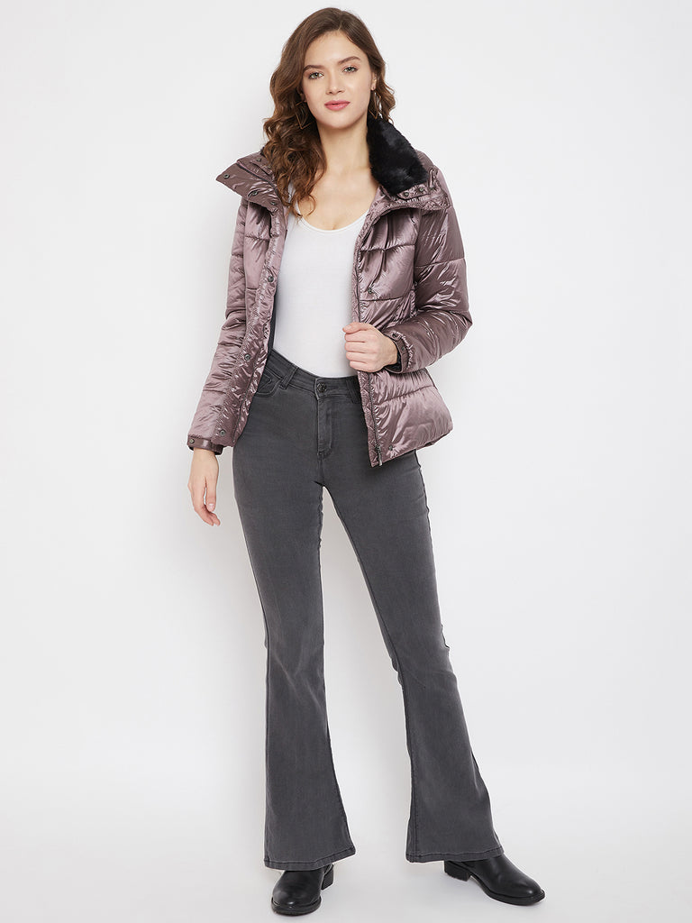 Madame Onion Pink Color Jacket For Women