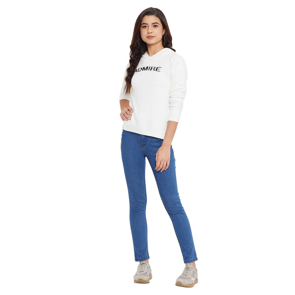 Madame White Color K Top For Women
