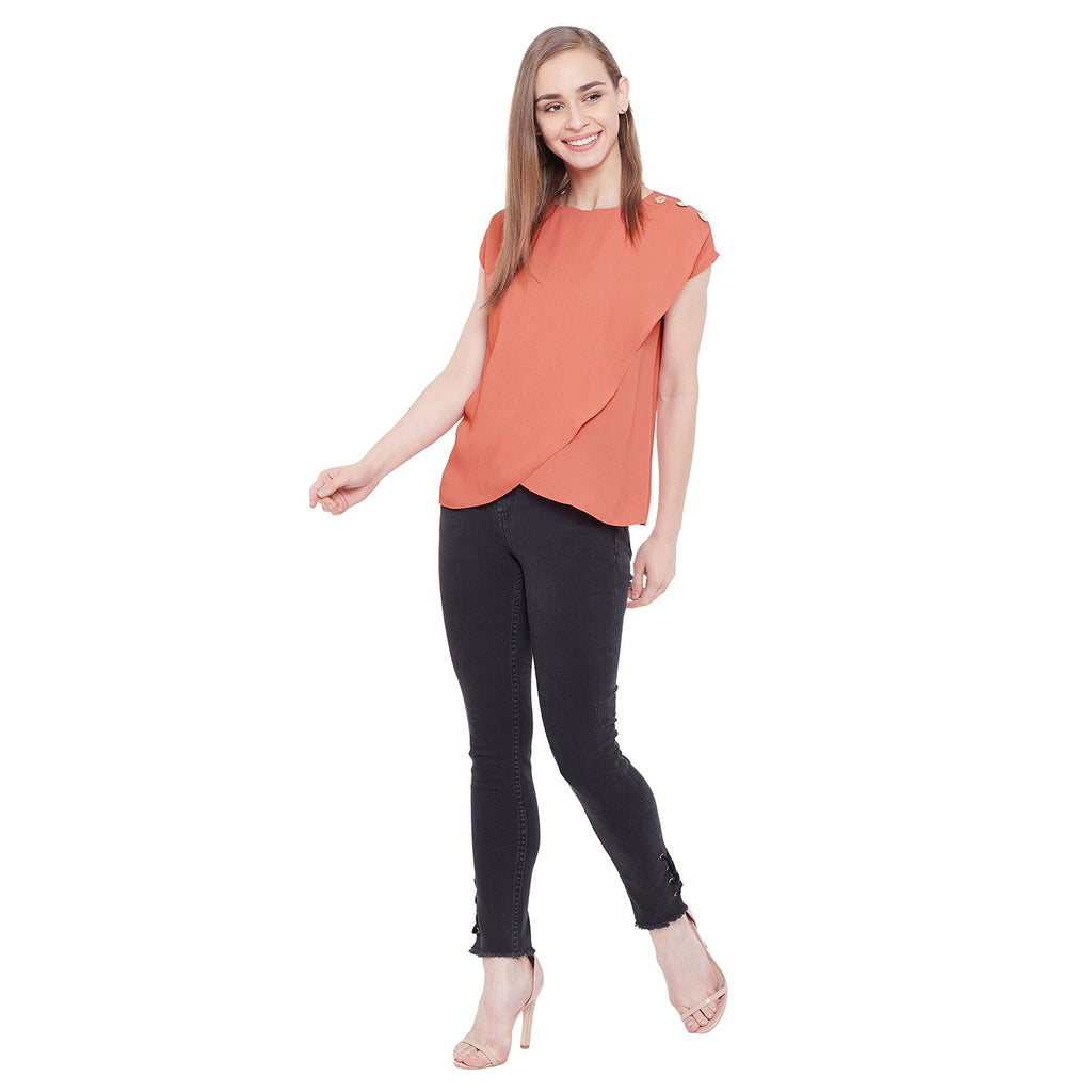 Madame Women Orange Top