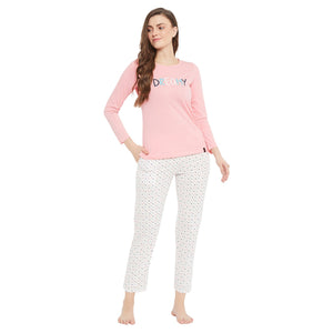 Secret Pink Color Night Suit For Women