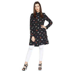 Madame Printed Long Shirt