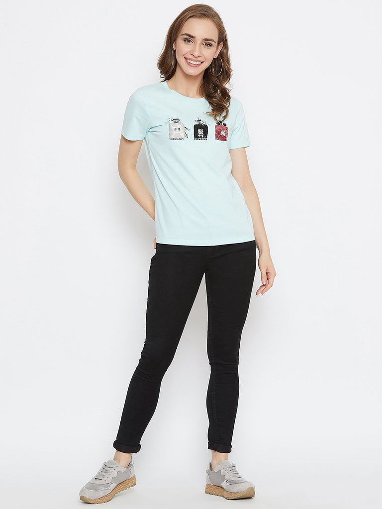 Madame Mint Color Top For Women