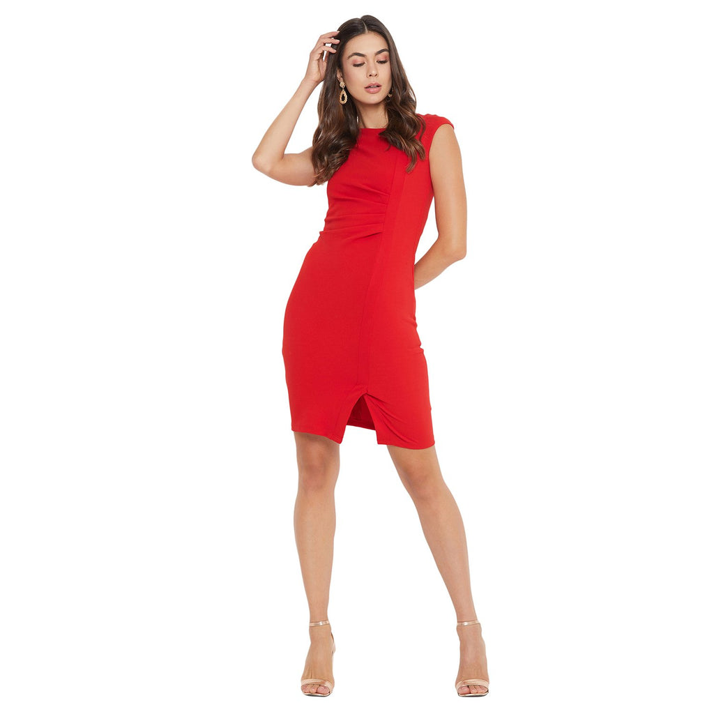Madame Red Color Dress For Women