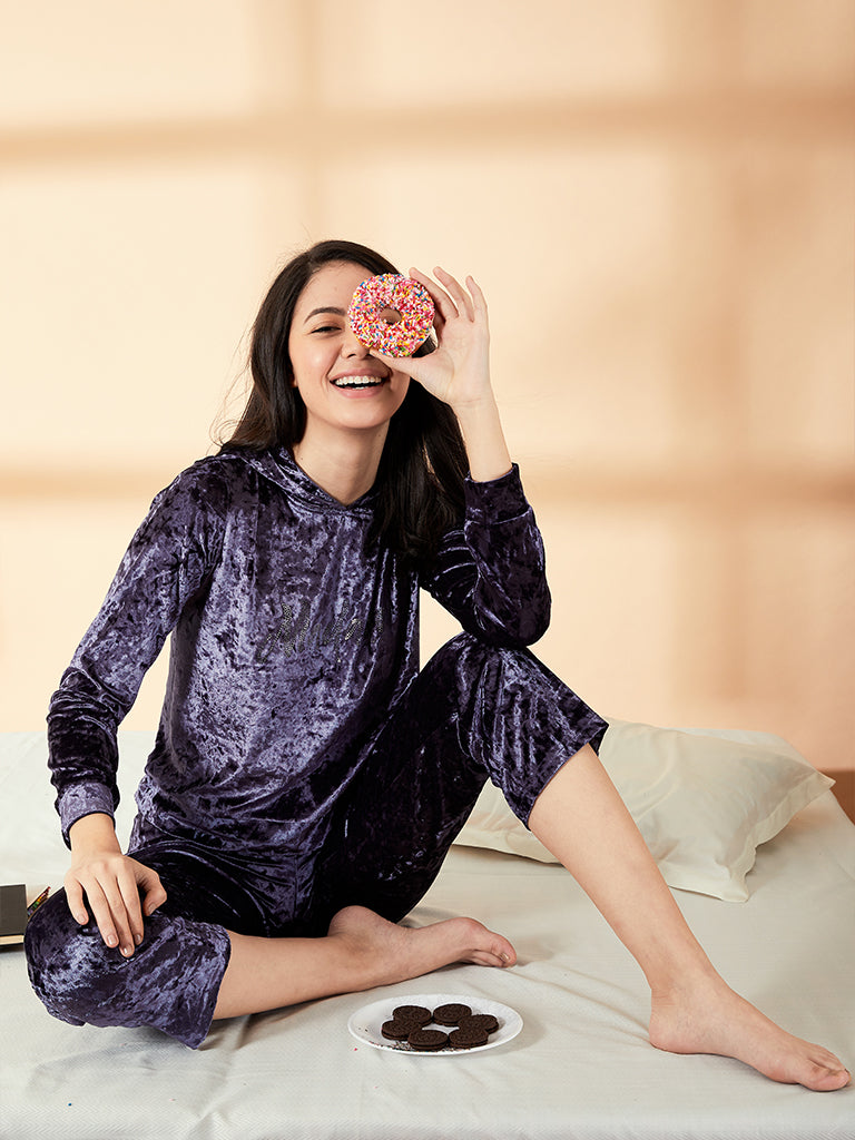 Madame Mauve Color Loungewear For Women