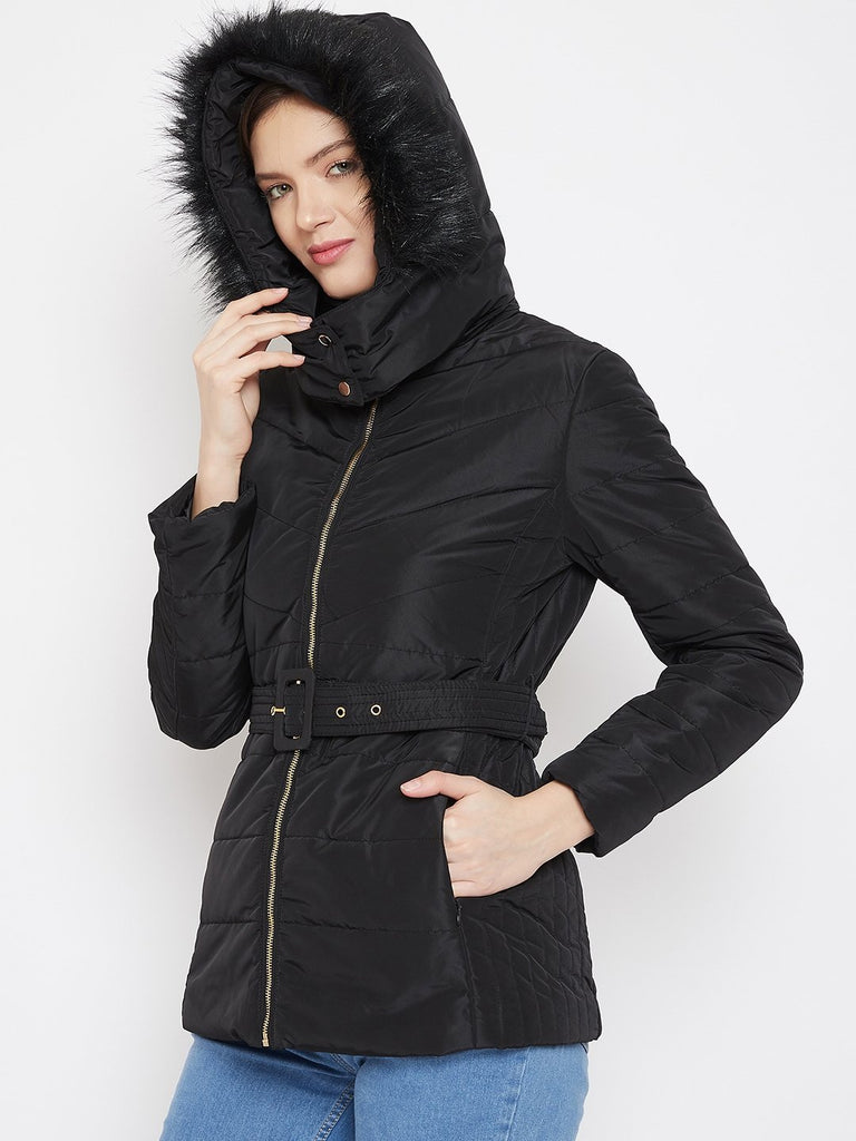 Madame Black Color Jacket For Women