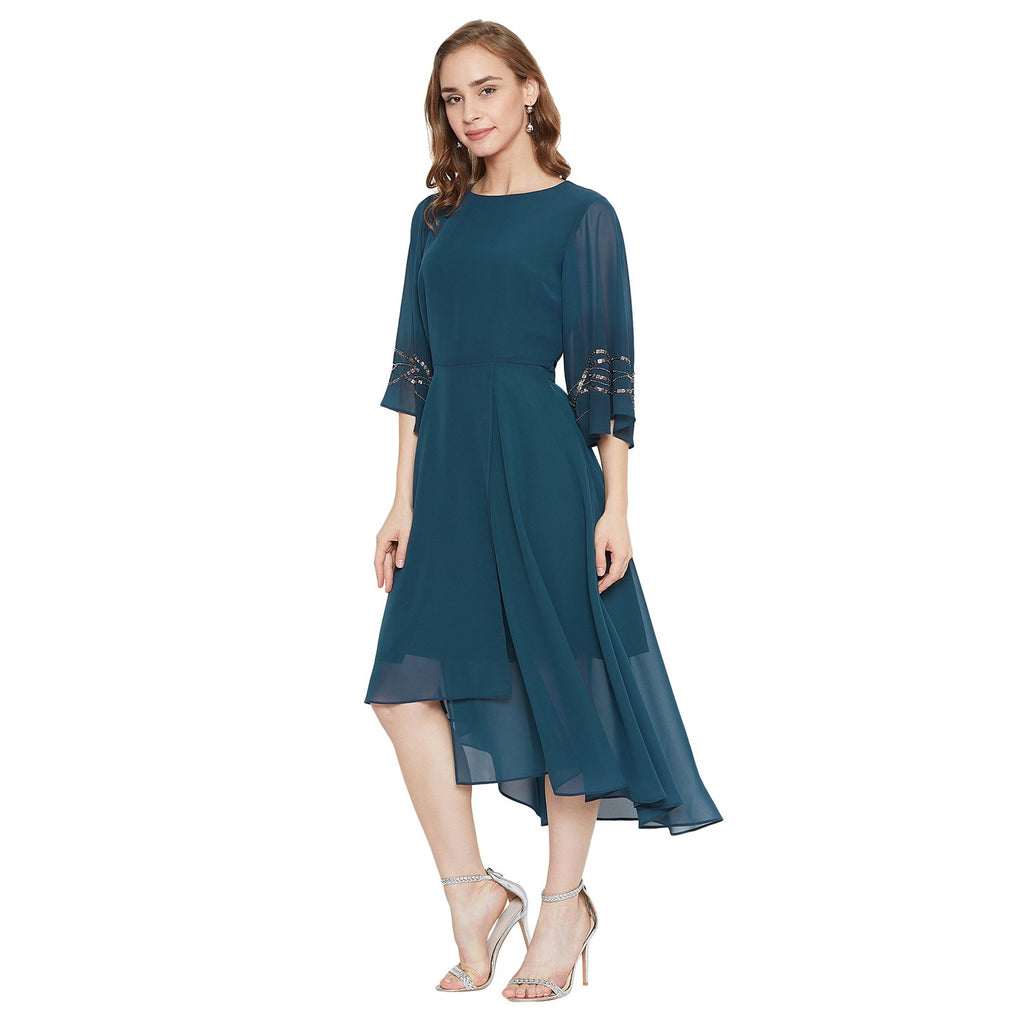 Madame Women Teal Dress