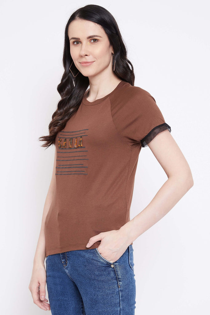 Camla Brown Color Top For Women