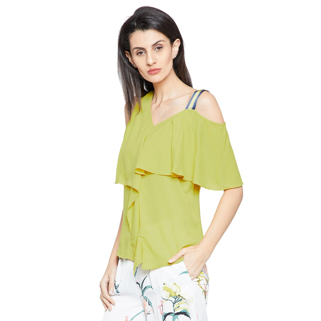 Solid Green Flare Top