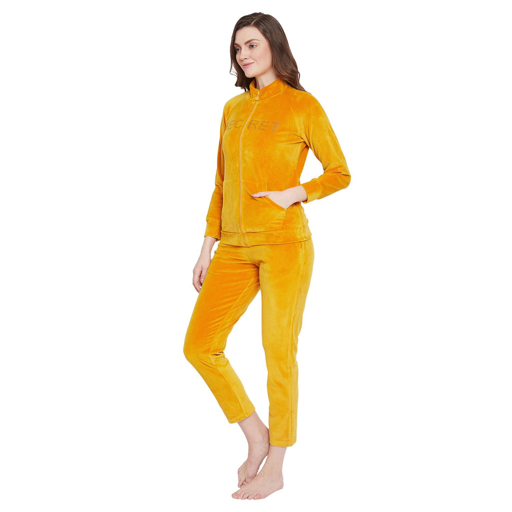Secret Mustard Color Night Suit For Women