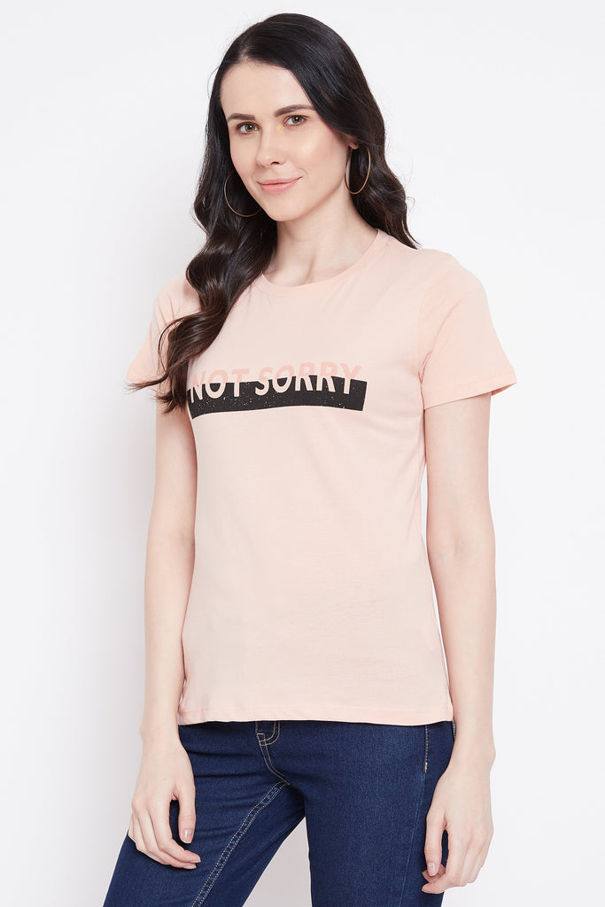 Madame Light Peach Color Top For Women