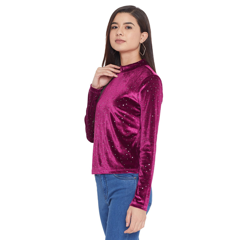 Madame Wine Color Top For Women