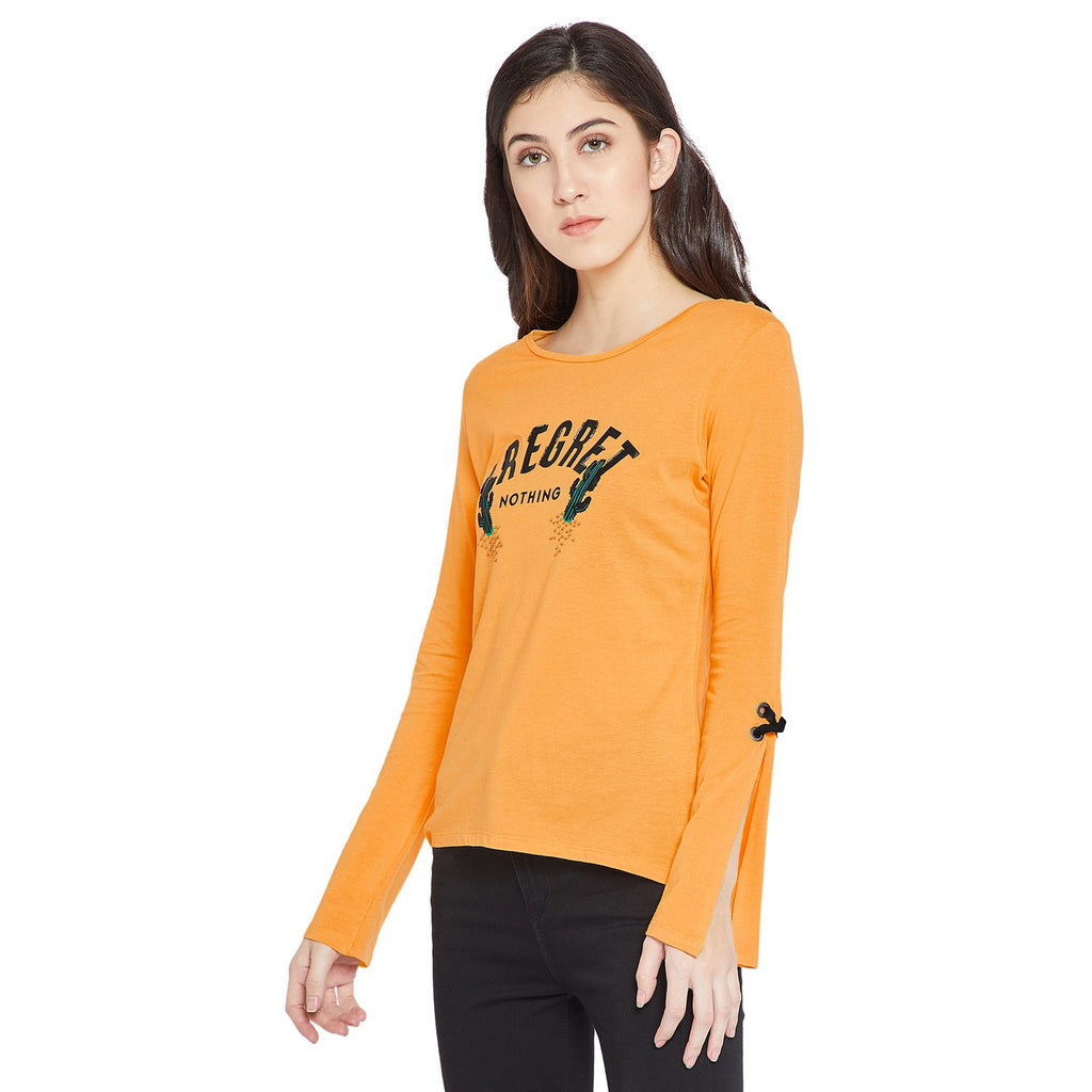 Madame Mustard Color Full Sleeve Top