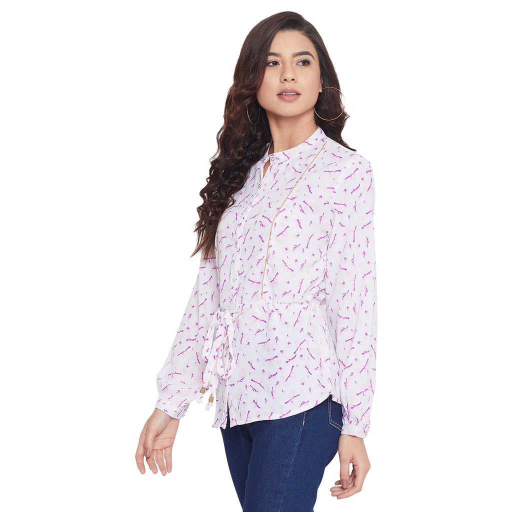 Opt Pink Color Shirt For Women
