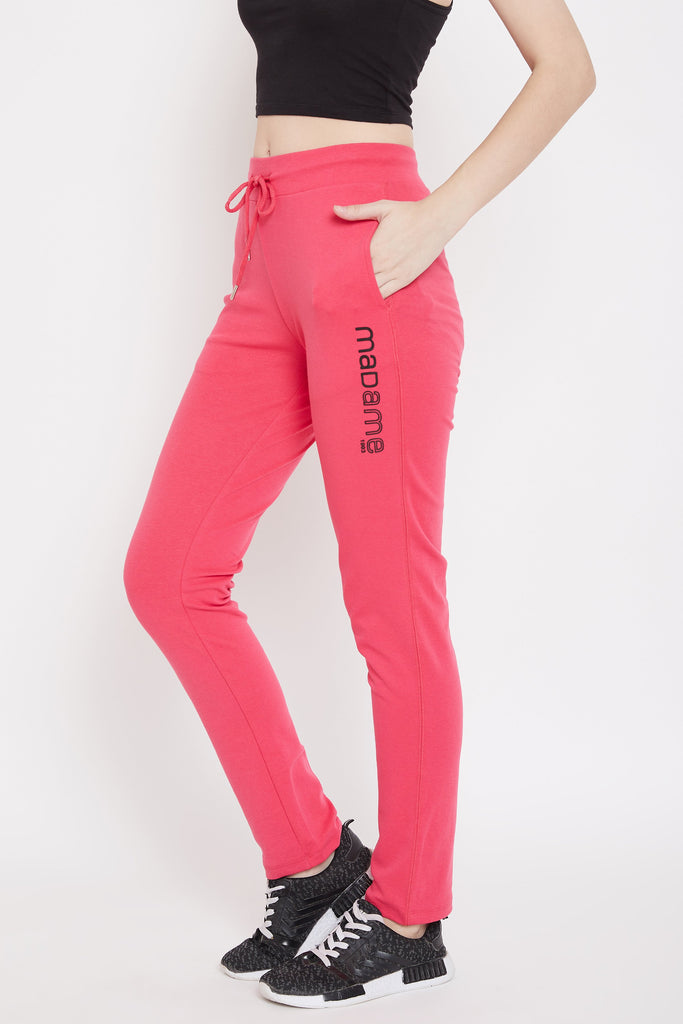 Madame Hot Pink Color Trackbottom For Women