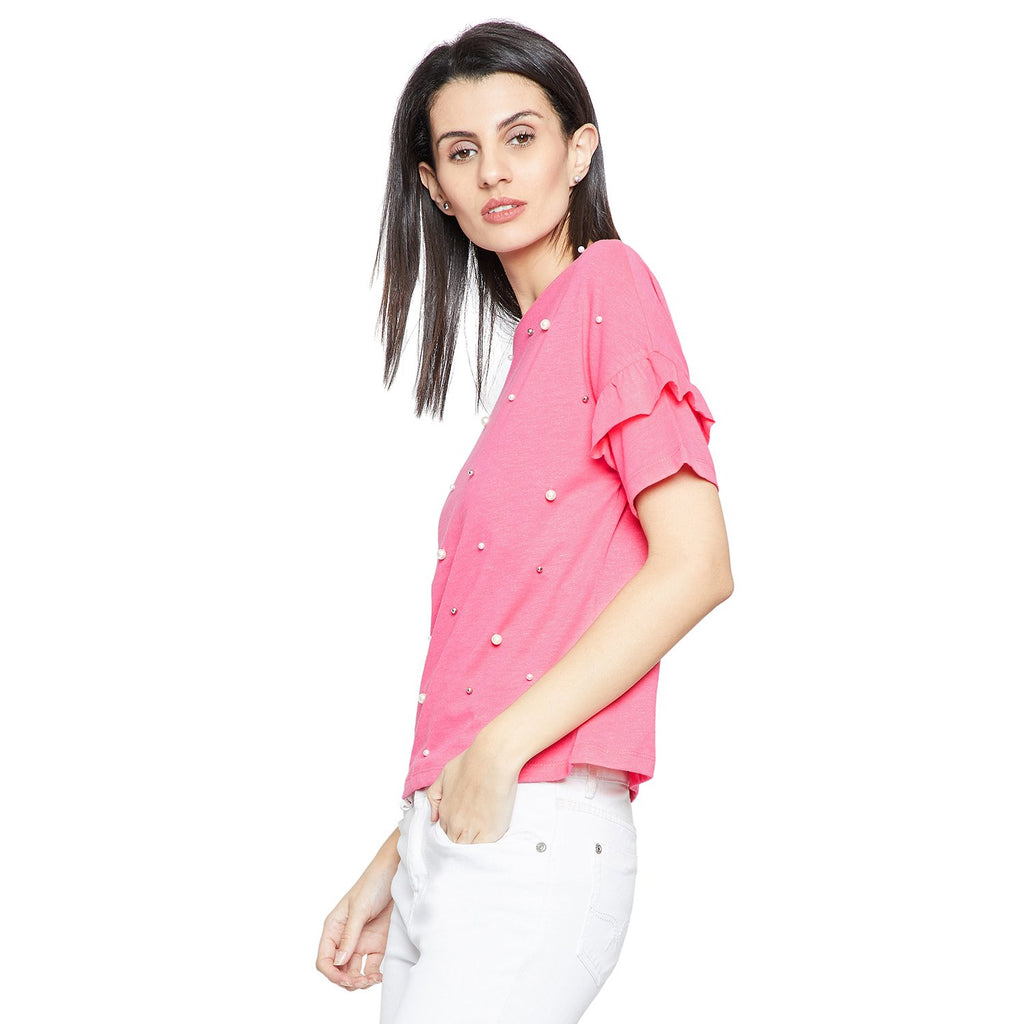 Madame Pink Solid Top